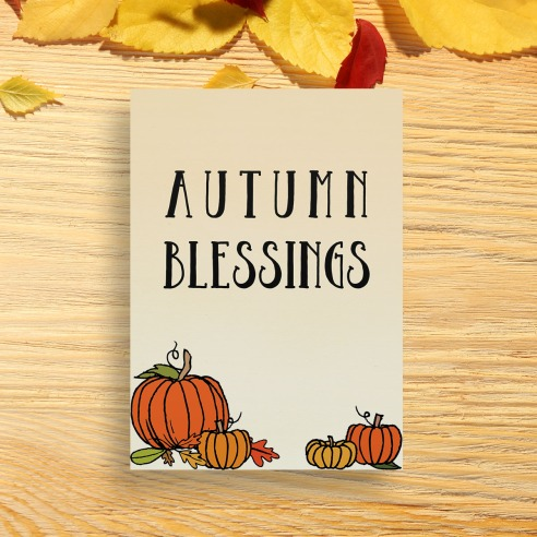Autumn Blessings Printable Wall Art - Printable Haven